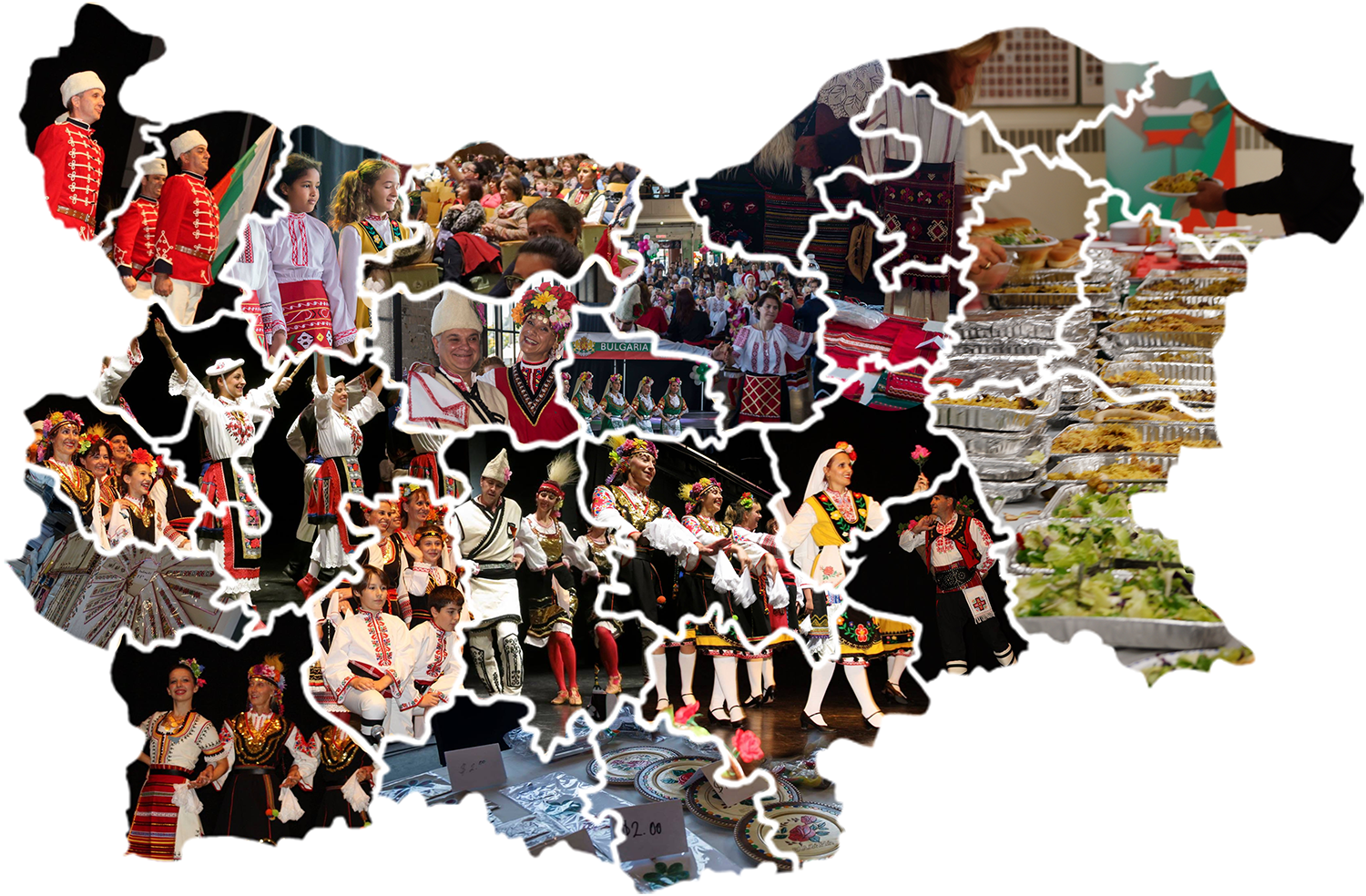 Selected moments from Bulgarian Cultural Days 2016, collage by Galia Nikolaeva